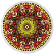 Natural Attributes 02 Horizontal Round Beach Towel by Wendy J St Christopher