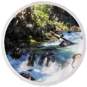 Round Beach Towel featuring the photograph Natural Bridges by Melanie Lankford Photography
