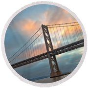 Round Beach Towel featuring the photograph Natural Firework by Jonathan Nguyen