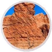 Natural Sculpture Round Beach Towel by John M Bailey