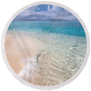 Natural Wonder. Maldives Round Beach Towel