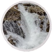 Naturally Pure Waterfall Round Beach Towel