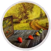 Nature Exhibition Round Beach Towel