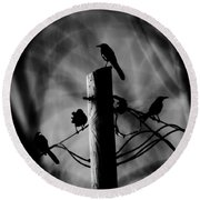 Round Beach Towel featuring the photograph Nature In The Slums by Jessica Shelton
