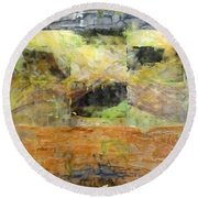 Nature Refuge Round Beach Towel