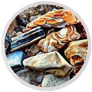 Nature Rocks Round Beach Towel