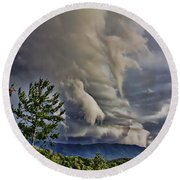 Nature Showing Off Round Beach Towel by Tom Culver
