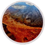 Round Beach Towel featuring the photograph Natureprint by Benjamin Yeager