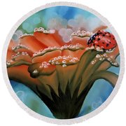 Natures Blessings Round Beach Towel