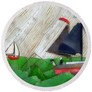 Round Beach Towel featuring the photograph Natures Elements Art-1 by Nina Bradica