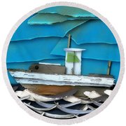 Round Beach Towel featuring the photograph Natures Elements Art-2 by Nina Bradica