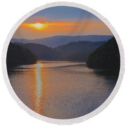 Natures Eyes Round Beach Towel by Tom Culver