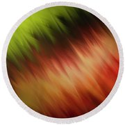 Nature's Feathers Round Beach Towel