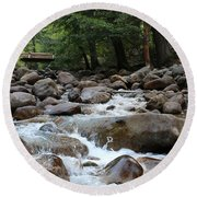 Nature's Flow  Round Beach Towel