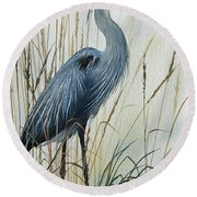 Natures Gentle Stillness Round Beach Towel