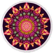 Round Beach Towel featuring the digital art Nature's Mandala 16 by Derek Gedney