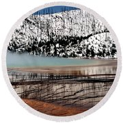 Round Beach Towel featuring the photograph Nature's Mosaic I by Sharon Elliott