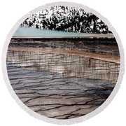 Round Beach Towel featuring the photograph Nature's Mosaic II by Sharon Elliott