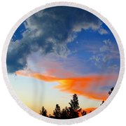 Round Beach Towel featuring the photograph Nature's Palette by Barbara Chichester