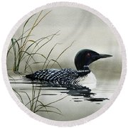 Nature's Serenity Round Beach Towel