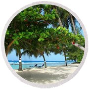 Natures Umbrella Tree Round Beach Towel