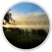 Round Beach Towel featuring the photograph Nature's Way by Dianne Cowen