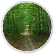 Round Beach Towel featuring the photograph Nature's Way At James L. Goodwin State Forest  by Neal Eslinger