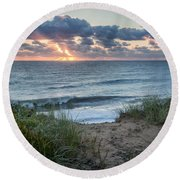 Nauset Light Beach Sunrise Square Round Beach Towel