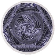 Nautical Coloured Design Round Beach Towel