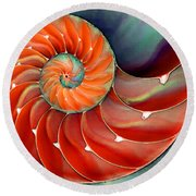 Nautilus Shell Art - Nature's Perfection 2 - By Sharon Cummings Round Beach Towel
