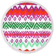 Navajo Mission Round Round Beach Towel by Nicholas Biscardi