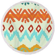 Navajo Missoni I Round Beach Towel