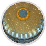 Naval Academy Chapel Side Dome Round Beach Towel