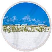 Navarre Beach Florida Round Beach Towel