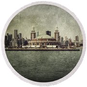 Navy Pier Round Beach Towel