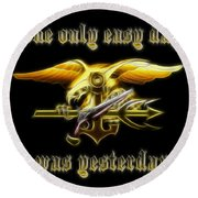 Navy Seals Round Beach Towel