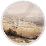 Nazareth, April 28th 1839, Plate 28 Round Beach Towel