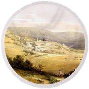 Nazareth Round Beach Towel by Munir Alawi