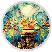 Near Reflections Round Beach Towel by Ally  White