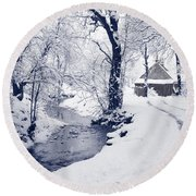 Round Beach Towel featuring the photograph Nearly Home by Liz Leyden