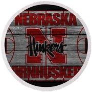 Nebraska Cornhuskers Round Beach Towel