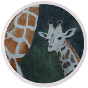 Neck And Neck Round Beach Towel