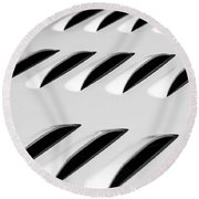 Need To Vent - Abstract Round Beach Towel