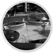 Round Beach Towel featuring the photograph Needs Water Skis  by Michael Krek