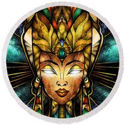 Nefertiti Round Beach Towel
