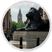 Nelson's Lion Round Beach Towel