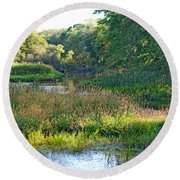 Nemasket River  Round Beach Towel
