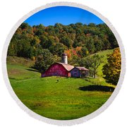 nestled in the hills of West Virginia Round Beach Towel
