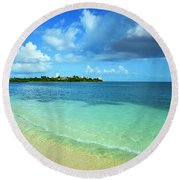Nettle Bay Beach St. Maarten Round Beach Towel