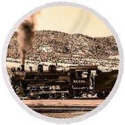 Nevada Northern Railway Round Beach Towel by Robert Bales